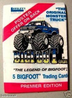 bigfoot monster truck trading card pack  1