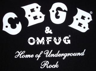 cbgb omfug cbs t shirt underground punk rock nyc szxl