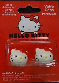 Hello Kitty Valve Cap Covers for Shrader Valves for Bike Car