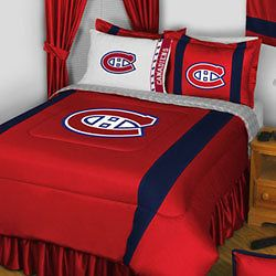 nhl montreal canadiens full queen bedding comforter set one day