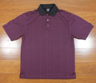 ping collection black purple golf polo shirt size medium time