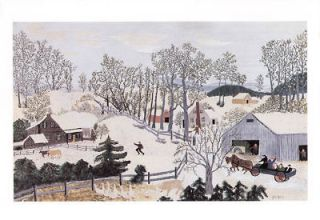 grandma moses print early springtime on the farm one day