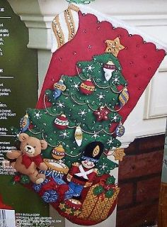 Bucilla NEW GIFTS UNDER THE TREE Felt Christmas Stocking Kit