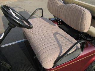 seat covers tan tweed for club car ds 2000 newer