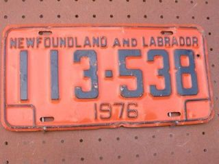 1976 newfoundland and labrador canada 113 538 license plate one