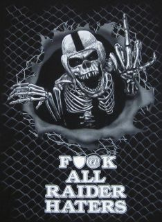 NFL Oakland RAIDERS T shirt RAIDER NATION Pirate Skull Tee Adult XL