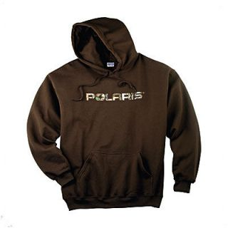 New OEM Polaris Brown Pursuit Camo Hoodie Sweatshirt size XL