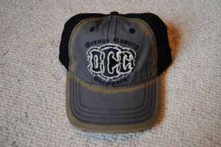 orange county choppers frayed logo baseball cap occ new  24