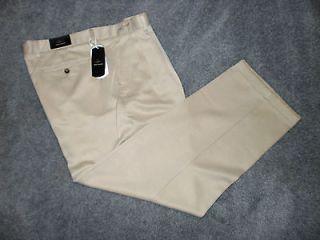 Greg Norman Mens Beige Pleated Golf Pants * NWT $69 * 38 x 30
