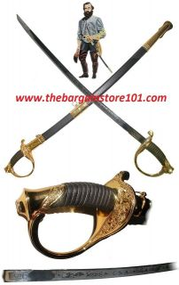 Full Size 39 Civil War CSA Confederate Cavalry Officer Sword Saber