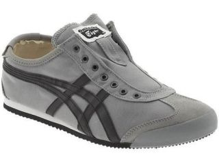 nib asics onitsuka tiger mexico 66 grey slip on sneakers
