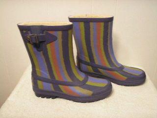 NEW UGG Rain / Snow Boots ORCAS Multi Stripe Shadow Blue Womens Size
