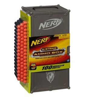 Nerf AMMO BOX & 100 Darts N STRIKE Holds Over 300 WHISTLER DARTS