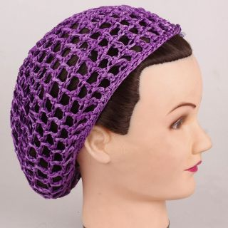 Crochet Hair Net Pattern : 1pcs Soft Rayon Snood Hair Net Crocheted Hair Net 12 Colors Available