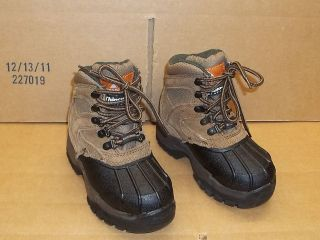 ozark trail youth leather waterproof insulated boots 11 time left