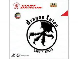 GIANT DRAGON TALON LONG PIMPLE TABLE TENNIS RUBBER   OX, 0.9mm & 1.5mm
