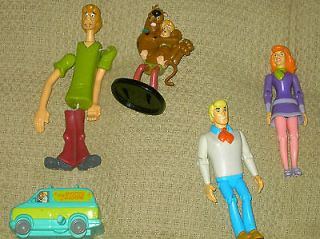 Scooby doo action figures set fred daphne shaggy mystery machine