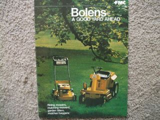 vintage bolens mowers tillers sales brochure literature time left $