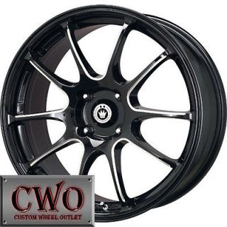17 Black Konig Illusion Wheels Rims 4x100 4 Lug Civic Mini G5 Cobalt