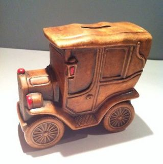 Vintage Retro Car/Auto Hand Painted Piggy Bank Made In Japan