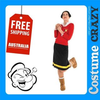 OLIVE OYL OIL LICENSED WOMENS ADULT HALLOWEEN FANCY DRESS COSTUME