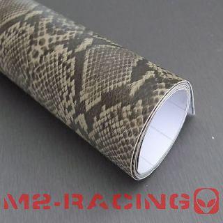 24x56 PYTHON SNAKE SKIN Vinyl Wrap Sticker Decal Sheet w/ Air Bubble
