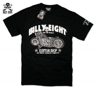 billy eight route 666 motorcycle biker t shirt rockabilly tattoo