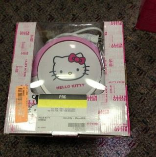 HELLO KITTY STEREO CD/CASSETTE PLAYER BOOMBOX FM RADIO Open Box