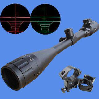 red & green mil dot illuminated 6 24x50 aoe optics hunting rifle scope
