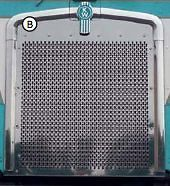kenworth k100 cabover stainless punch grill insert