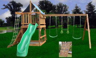 PLAYSET PLANS FORT SWING SET DIY FREE SWINGS ACCESSORIES WOODEN
