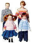 Dollhouse Miniature vinyl dolls family modern people Dad/mom/girl/boy