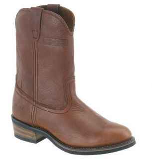 AdTec Mens Classic Western Boot 11 Ranch Wellington Red Teak Leather