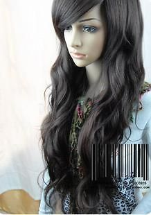 Vogue black curl womens wig/hair like real hair Cosplay Wig