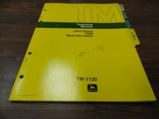 John Deere 4300 Beet Harvester Technical Service Manual TM1120 **NEW