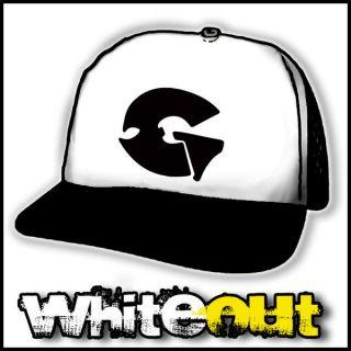 GZA WU TANG CLAN ODB HIP HOP RAP WHITE + BLACK TRUCKERS CAP MESH