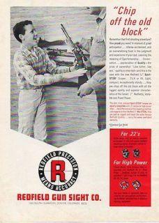 Gun Sight Rifle Scopes Redfield Precision Boy Denver CO Vintage Print