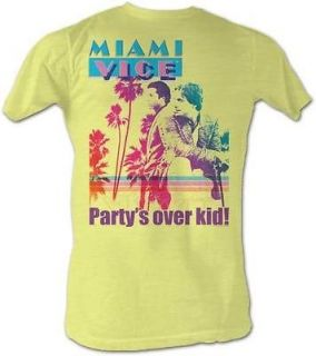 New Licensed Miami Vice Partys Over Kid Adult T Shirt S XXL
