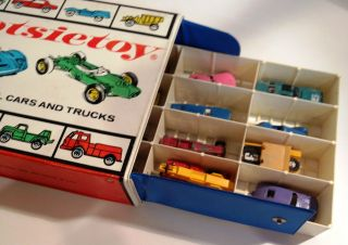 Tootsie Toy Die Cast Metal cars and trucks with plastic case