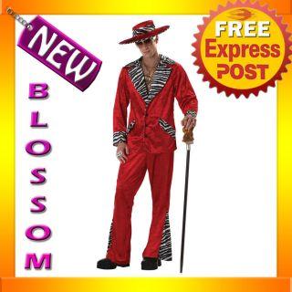 C35 Men Pimp Black Supa Mac Big Daddy Adult Fancy Halloween Costume M