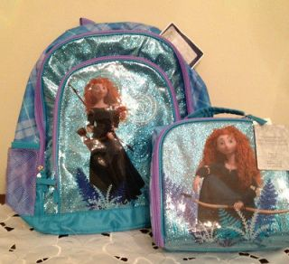 NWT  Brave Merida Backpack Bookbag & Lunch Box Tote