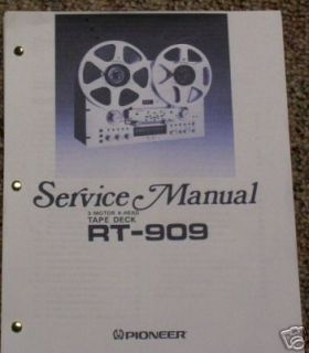 pioneer rt 909reel to reel service manual free ship time