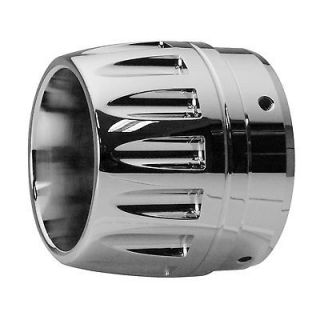 CHROME BULLET CHROME EXHAUST TIPS 3.5 FOR RINEHART SLIP ONS HARLEY