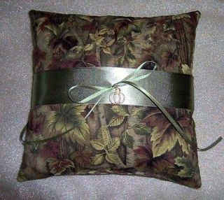 camo camouflage ring bearer pillow wedding rings charm time left