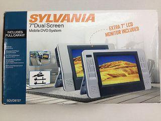 NEW   Sylvania SDVD8727   7 Dual Screen Portable mobile DVD System
