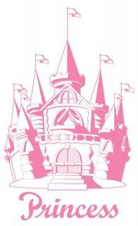 pink disney princess castle peel stick mural 02244 time left