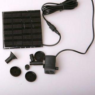 Fountain Water Pump + Solar Power Panel Kit for Garden Pond Pool