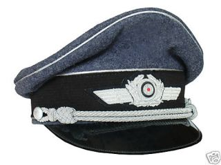 ww2 german luftwaffe officer blue pilot visor hat 59cm from