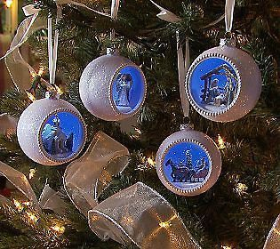 valerie parr hill set of 4 winter wonderland ornaments time