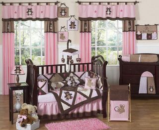 Newly listed CHEAP PINK BROWN TEDDY BEAR BABY GIRL CRIB COMFORTER